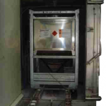 IBC washing chamber before doors are locked