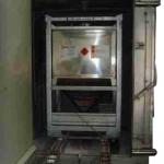 IBC washing chamber before doors are locked