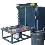 Solvent machine parts washer