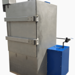Locked drum washer certified for solvent cleaning
